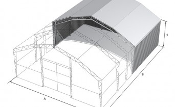 Roof PVC, walls profiled